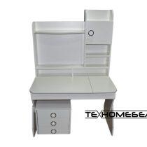 Детская парта-стол ТЕХНОмебель от 3-х до 18 лет белая