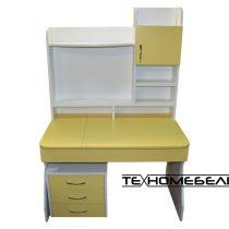 Детская парта ТЕХНОмебель от 3-х до 18 лет белый-желтый