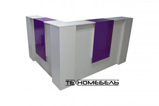 Ресепшн угловой бело-фиолетовый