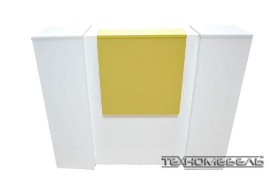 Ресепшн «columns» длина 1200 мм бело-желтый