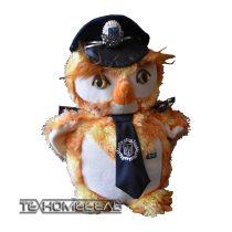 Плюшевая игрушка Сова-милиционер