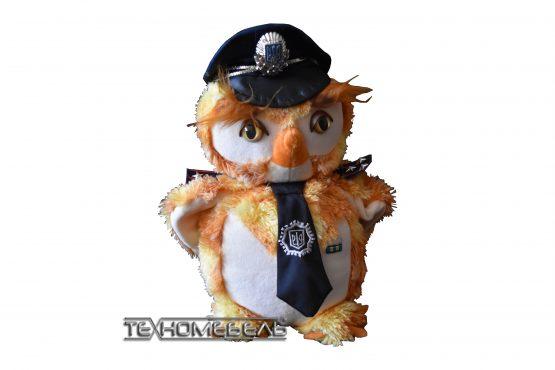 """Плюшевая игрушка """"Сова-милиционер"""""""